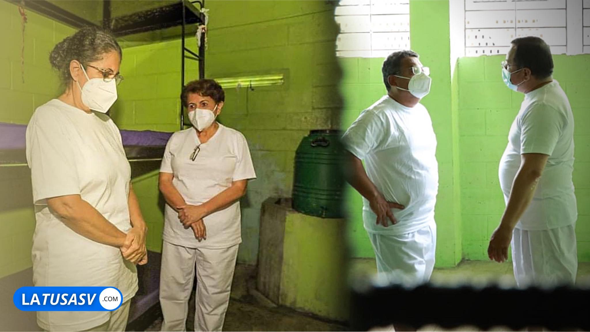 Así se encuentran ex ministros del FMLN ya en sus celdas disfrutando su estadía por haberle robado al pueblo salvadoreño